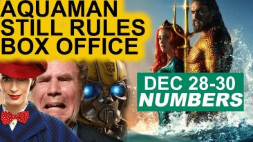 aquaman tops weekend box office 366x205 - Aquaman Tops Weekend Box Office Results; December 28-30 2018