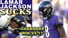 lamar jackson sucks chargers vs 232x130 - Lamar Jackson Sucks; Chargers vs Ravens Reaction